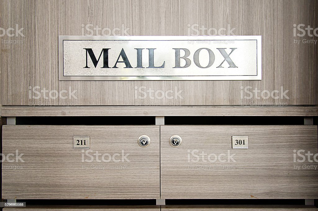PERSONAL MAIL BOXES stock photo
