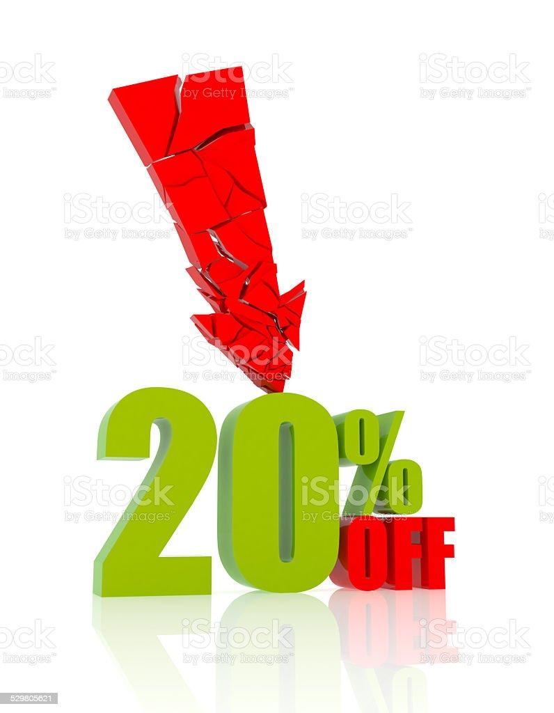 20% OFF stock photo