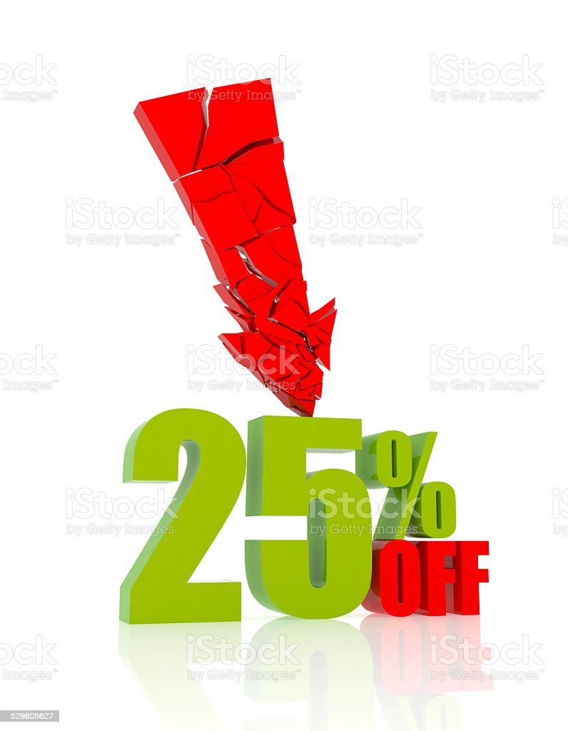 25% OFF stock photo