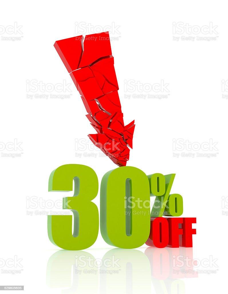 30% OFF stock photo