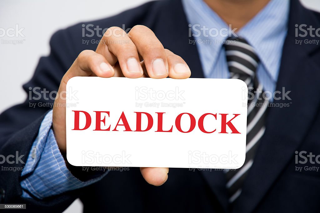 DEADLOCK stock photo
