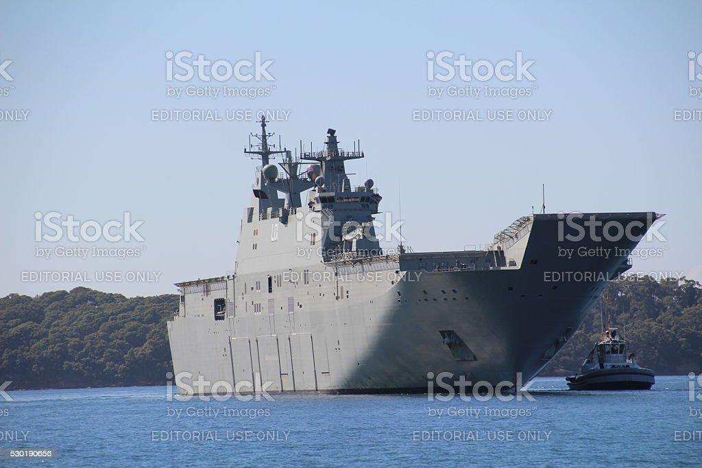 HMAS ADELAIDE stock photo