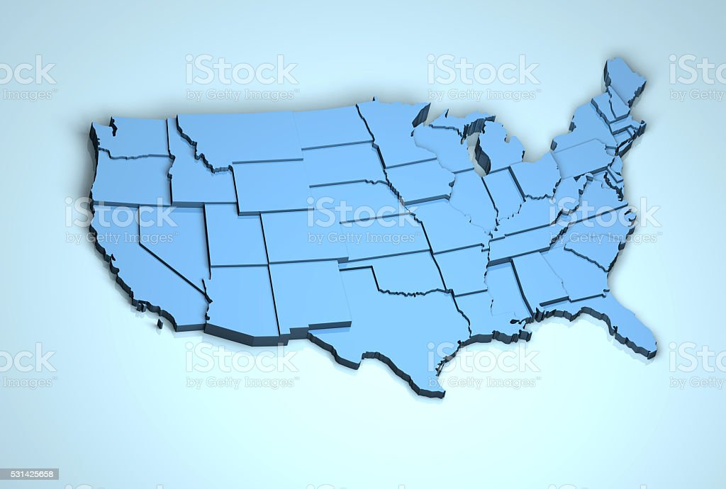 USA 3D stock photo