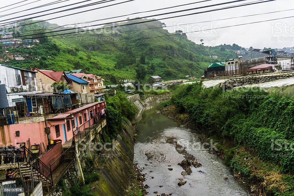 MOUNTAIN LANDSCAPE BAGUIO PHILIPPINES NORTHERN LUZON stock photo