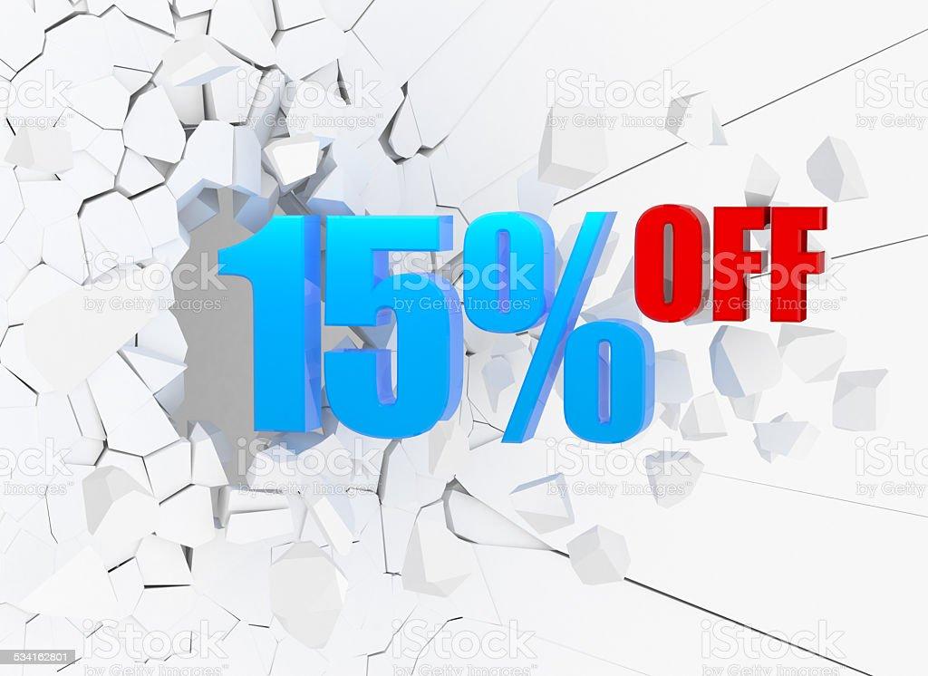 15% OFF stock photo