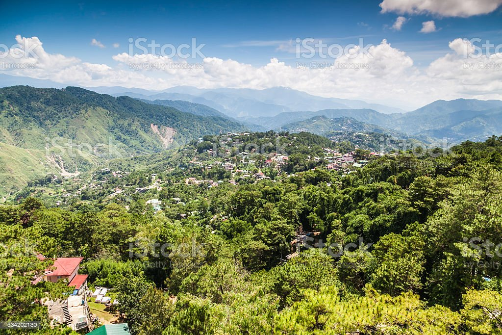MINES VIEW PARK MOUNTAINS LANDSCAPE BAGUIO PHILIPPINES stock photo
