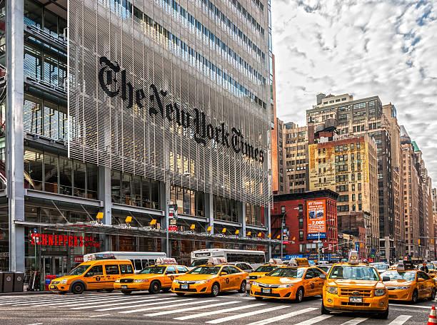 new york city - new york times stock-fotos und bilder