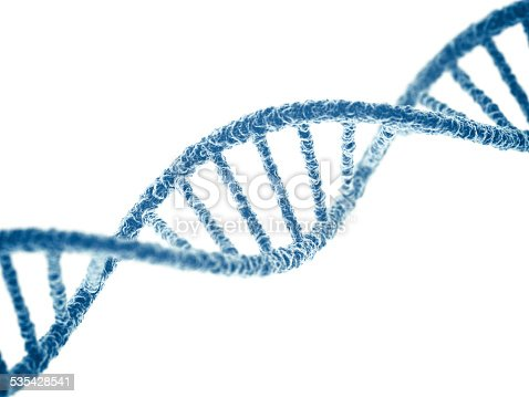 DNA on white background. 3D render.