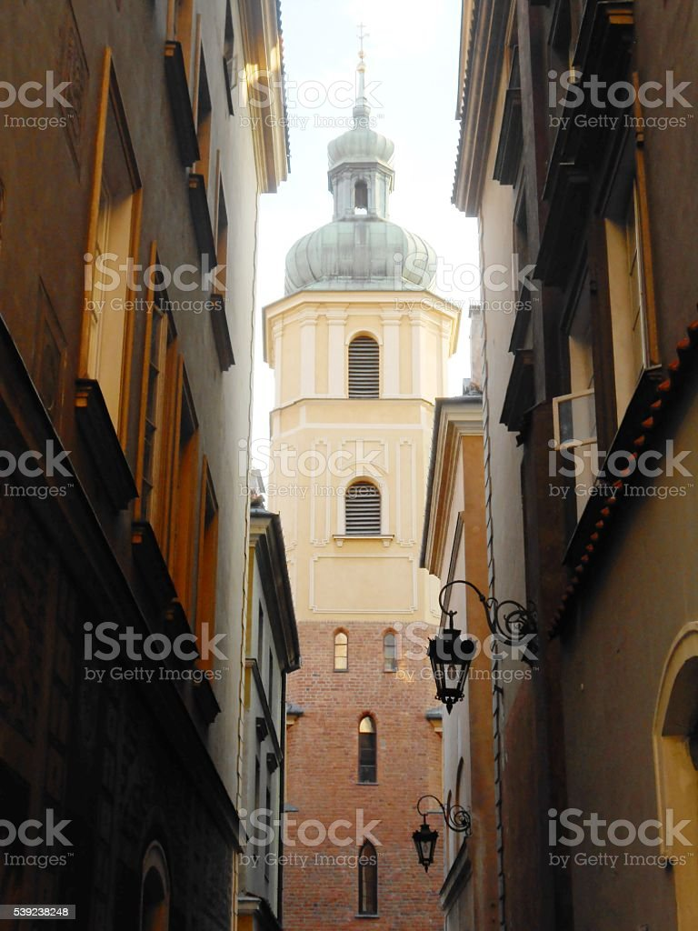 CHURCH IN WARSAW, POLAND royalty-free stock photo