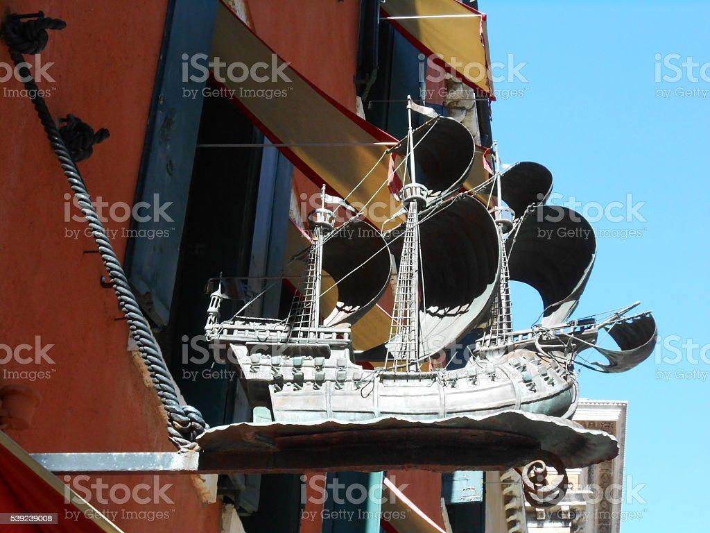OLD SAILBOAT, VENICE, ITALY royalty-free stock photo