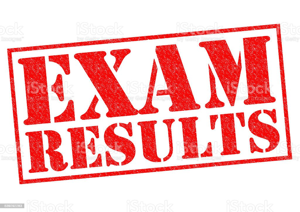 EXAM RESULTS stock photo