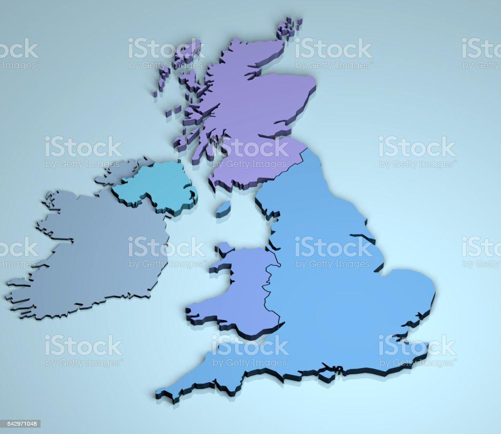 UK 3D stock photo