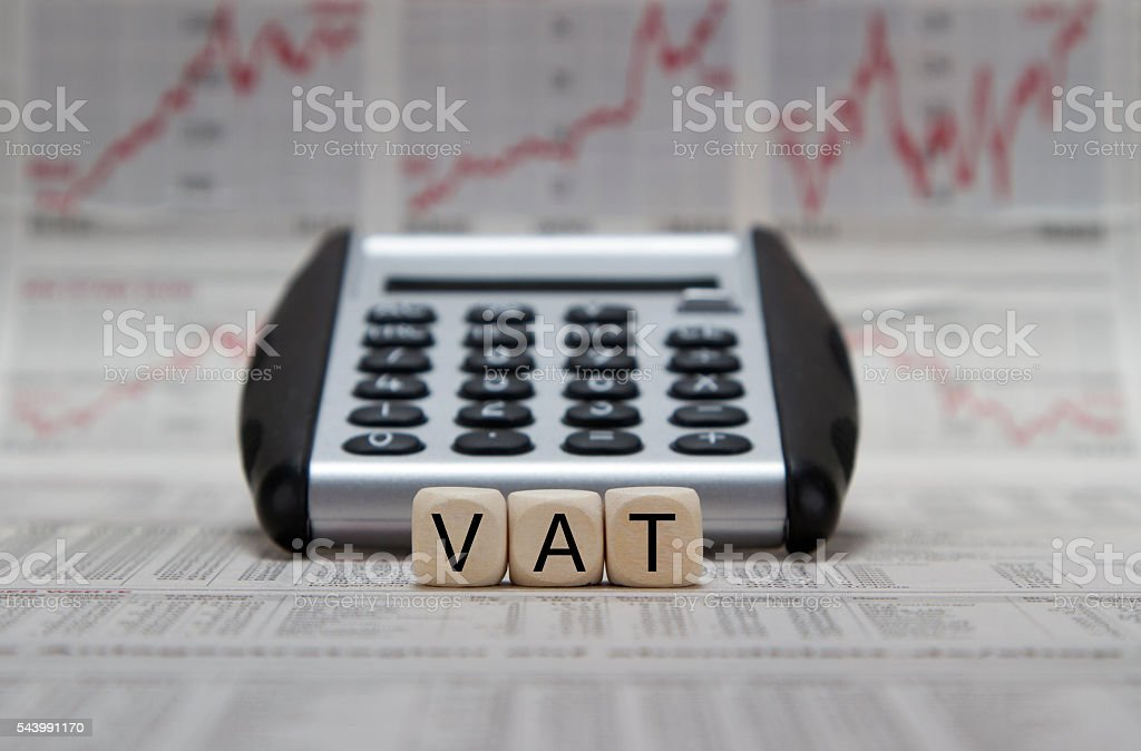 VAT stock photo