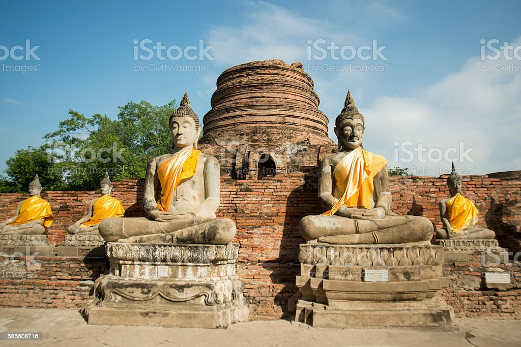 ASIA THAILAND AYUTHAYA WAT YAI CHAI MONGKHON stock photo