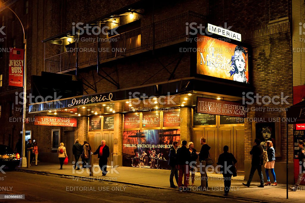 LES MISERABLES IMPERIAL THEATER stock photo
