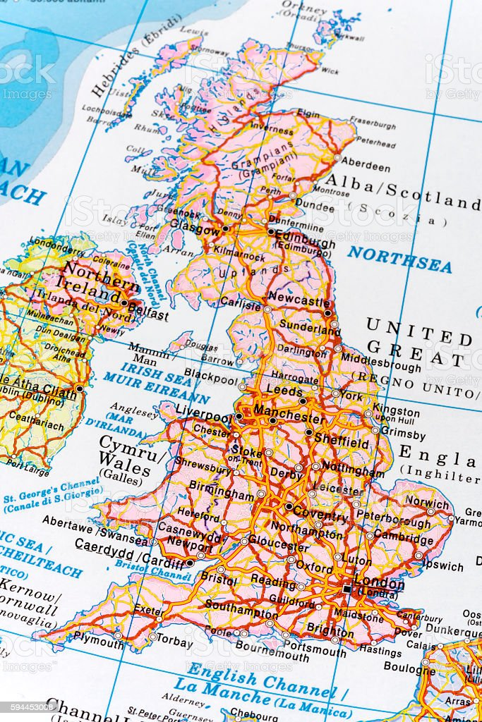 Royalty Free Road Map Manchester England Uk Cartography Pictures