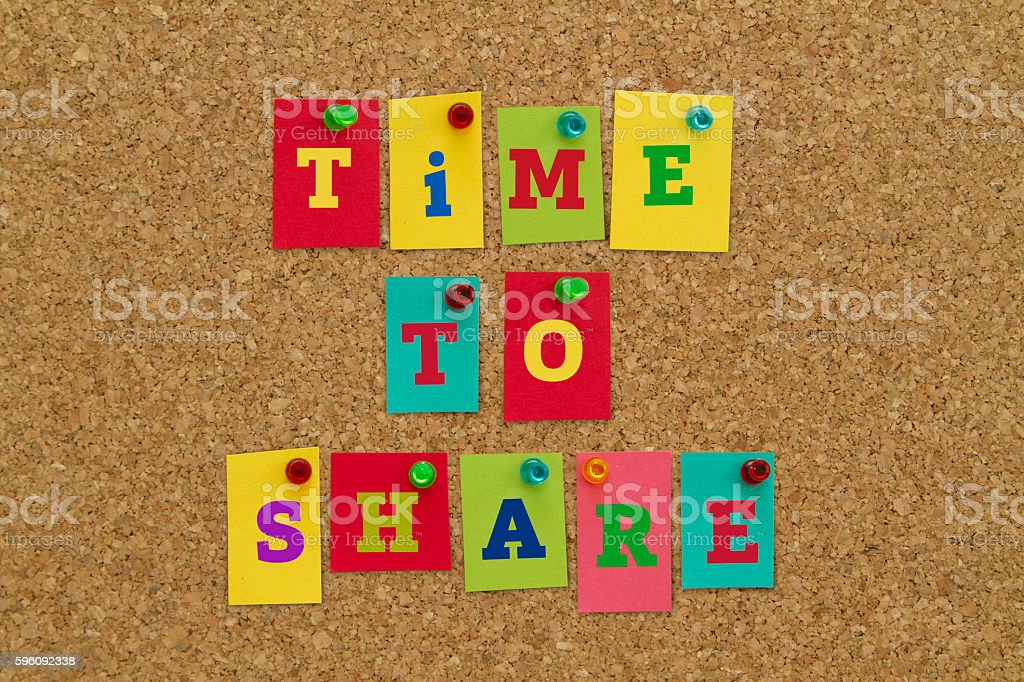 TIME TO SHARE royalty-free stock photo