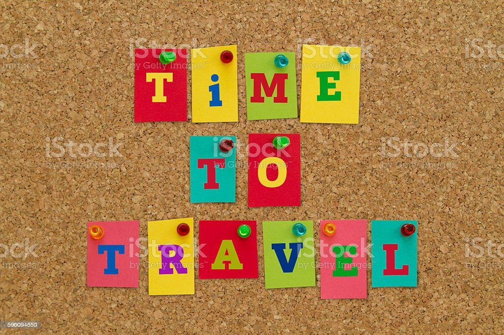 TIME TO TRAVEL royalty-free stock photo