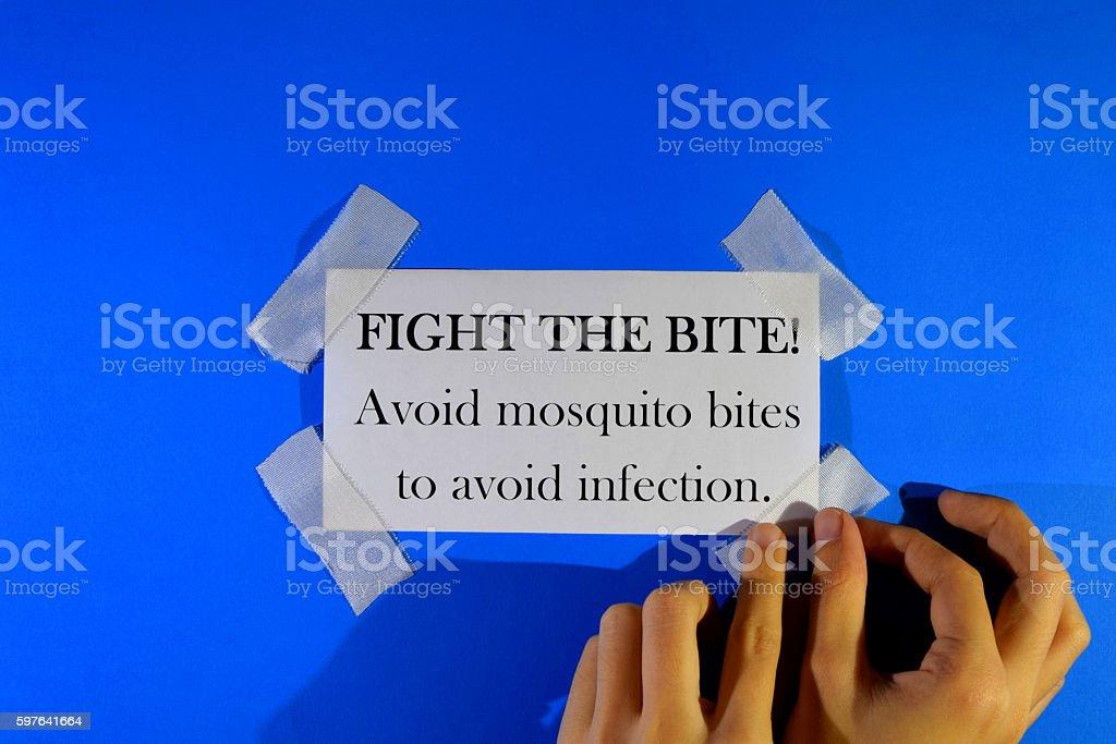 FIGHT THE BITE! stock photo