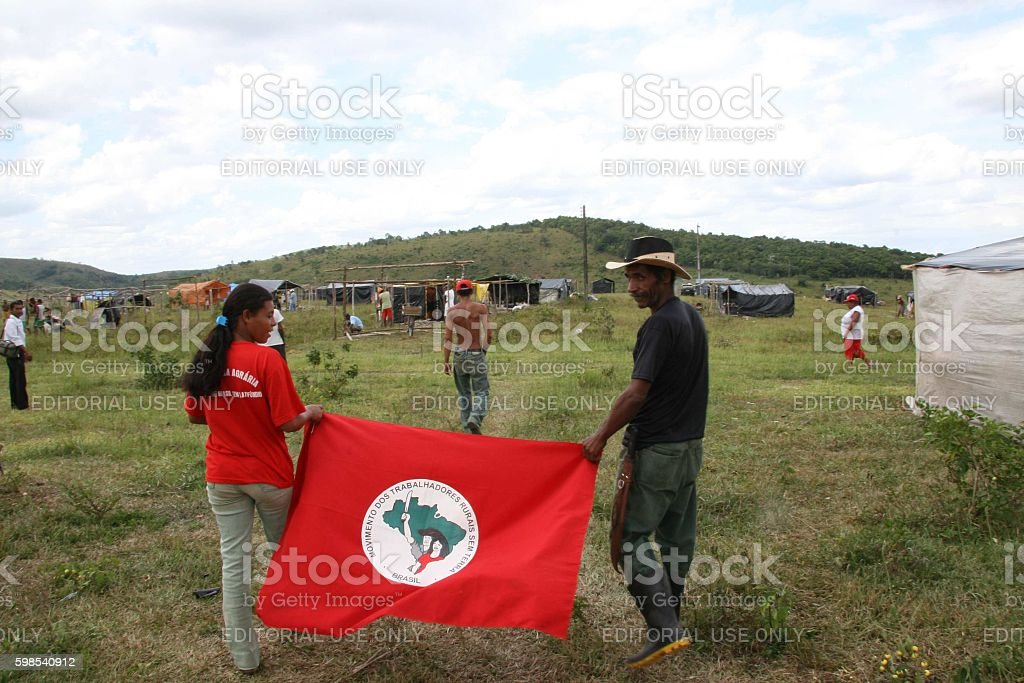 MST / CONFLICT AGRARIAN / SOUTHERN BAHIA photo libre de droits