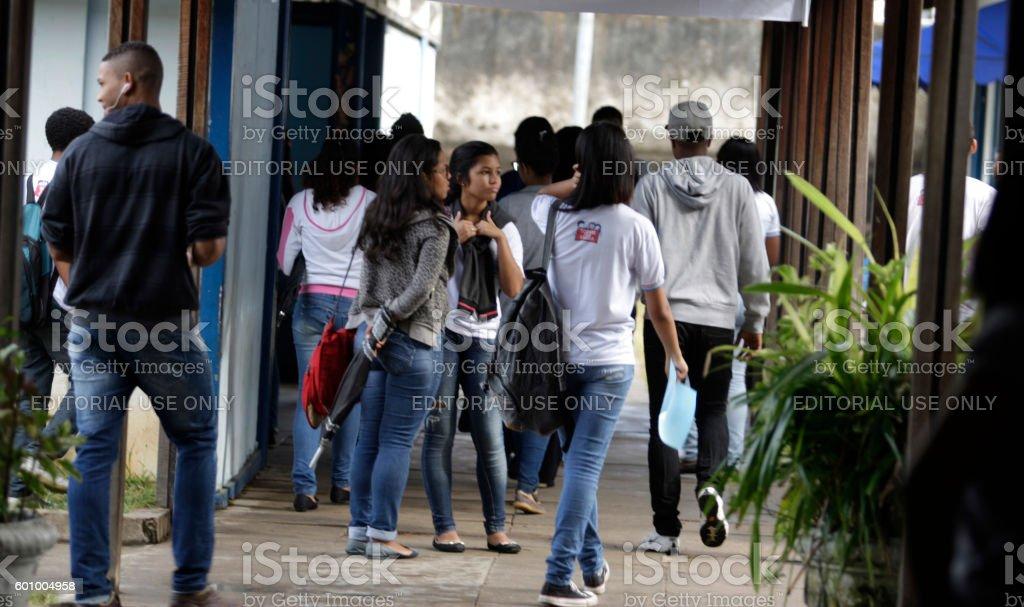 STUDENT /  PUBLIC SCHOOL stock photo