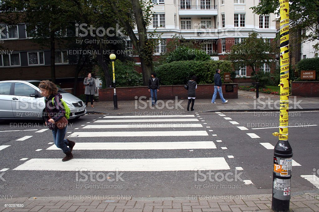 ABBEY ROAD ZEBRA CROSSING - foto stock