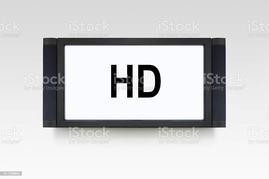 HD TV stock photo