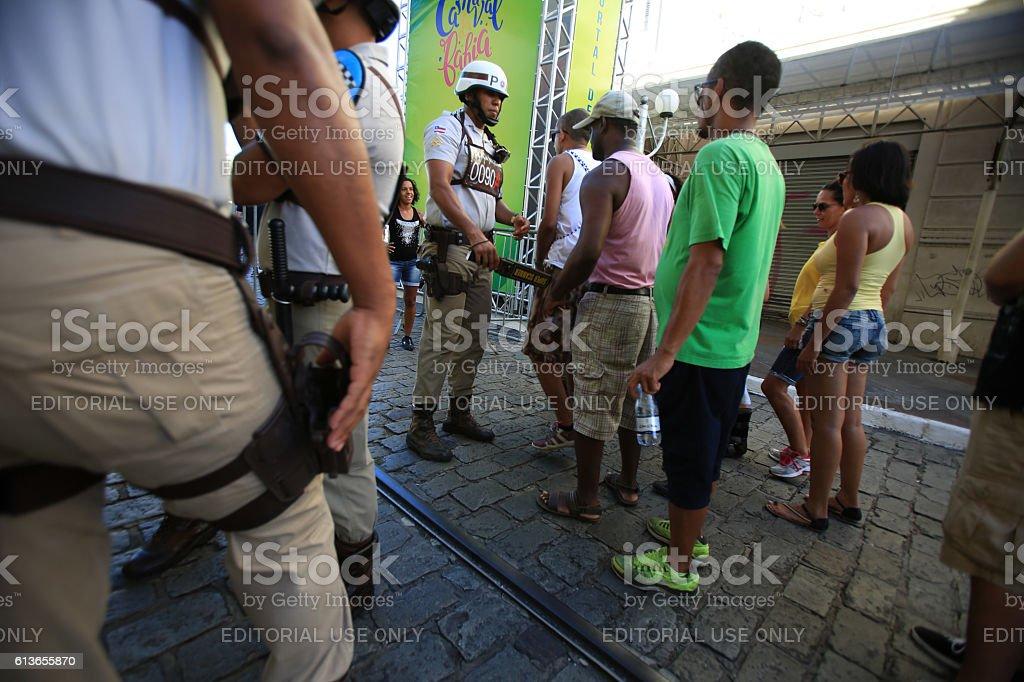 PELOURINHO / POLICIA MILITAR stock photo