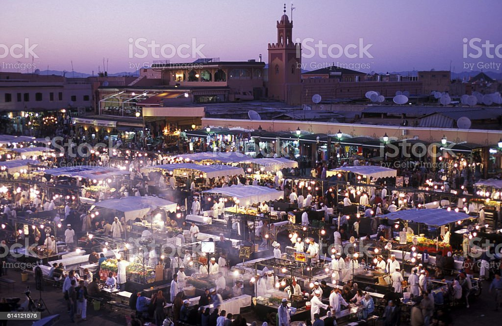 AFRICA MOROCCO MARRAKESH stock photo