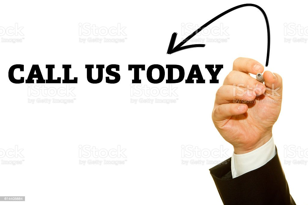 CALL US TODAY stock photo