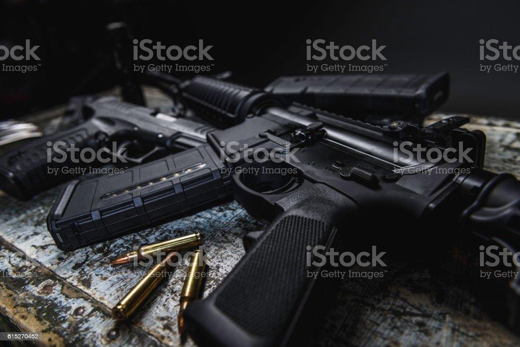 AR 15 stock photo