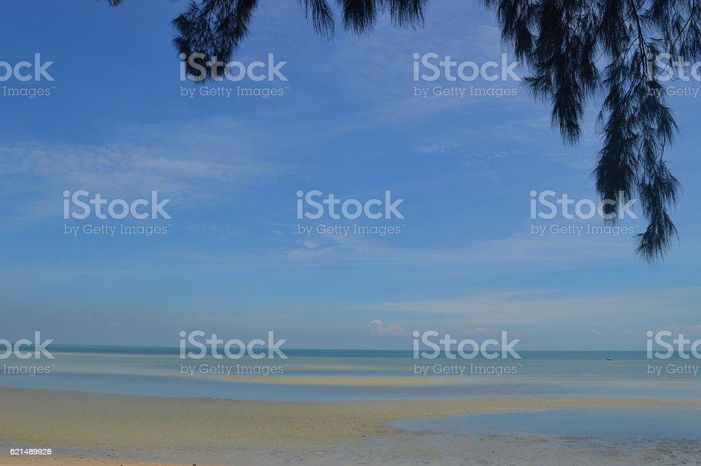 BEACH IN PORT DICKSON MALAYSIA photo libre de droits