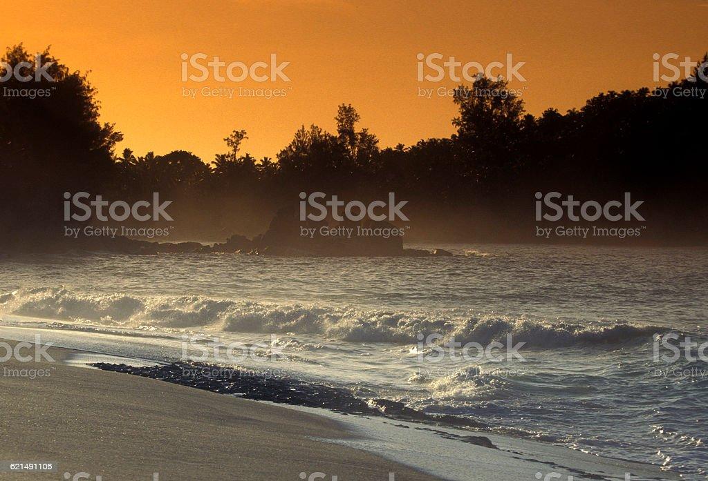 INDIAN OCEAN SEYCHELLES PRASLIN BEACH photo libre de droits