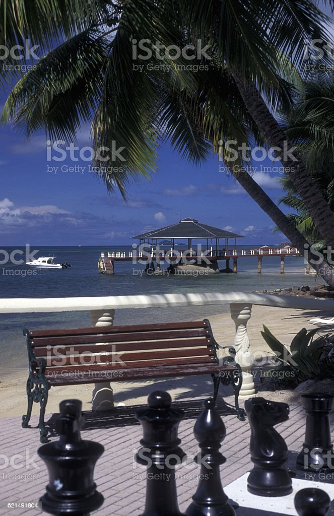 INDIAN OCEAN SEYCHELLES PRASLIN BEACH photo libre de droits