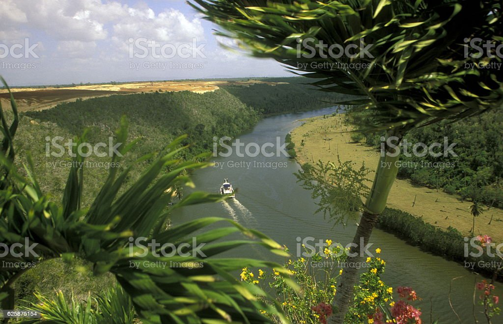 AMERICA CARIBBIAN SEA DOMINICAN REPUBLIC stock photo