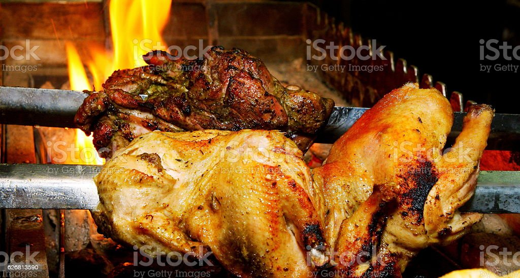 CHICKEN BARBECUE OR GRILLED CHICKEN stock photo