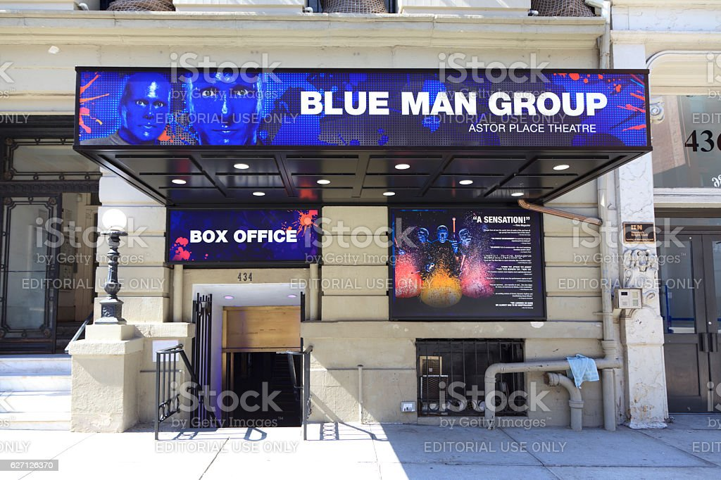 BLUE MAN GROUP stock photo