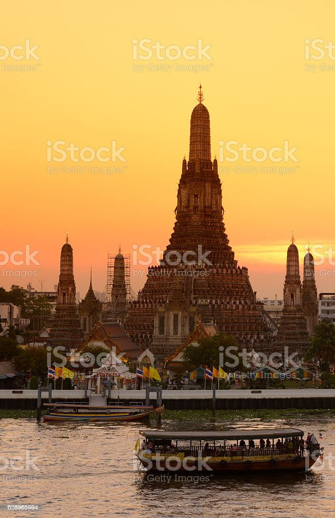 ASIA THAILAND BANGKOK WAT ARUN stock photo