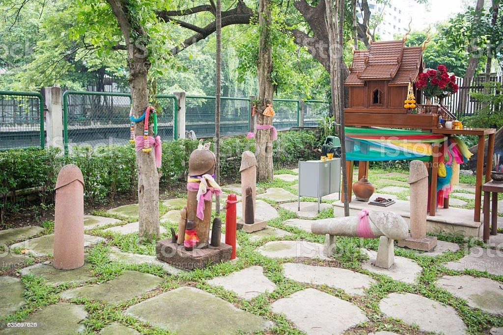 THAILAND BANGKOK PHALLIC SHRINE PENIS royalty-free stock photo