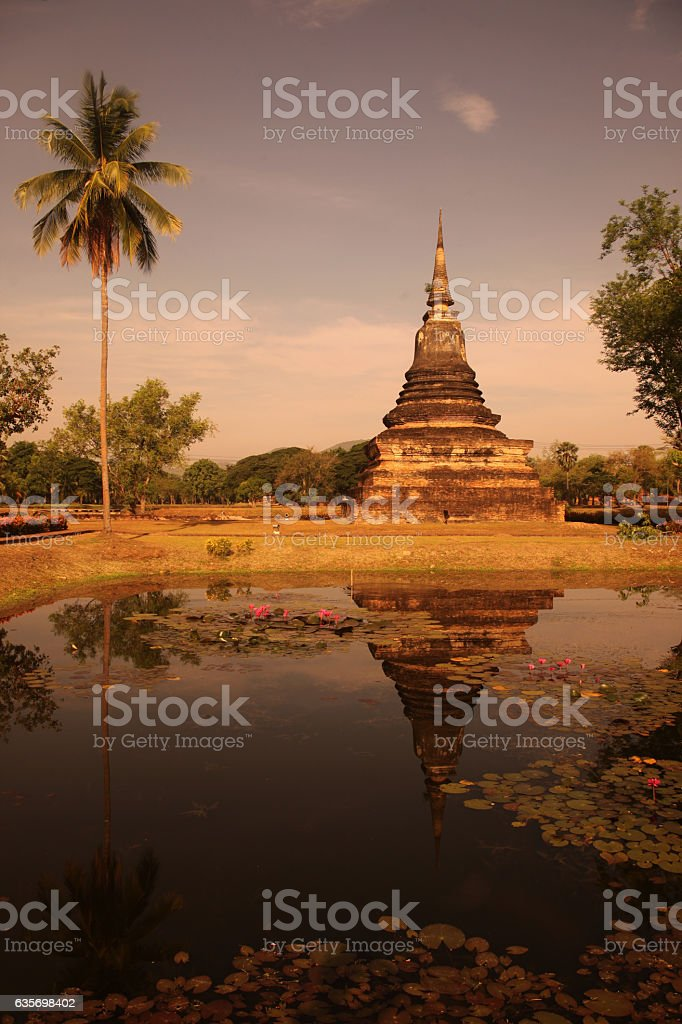 ASIA THAILAND SUKHOTHAI TEMPLE MAHATHAT royalty-free stock photo