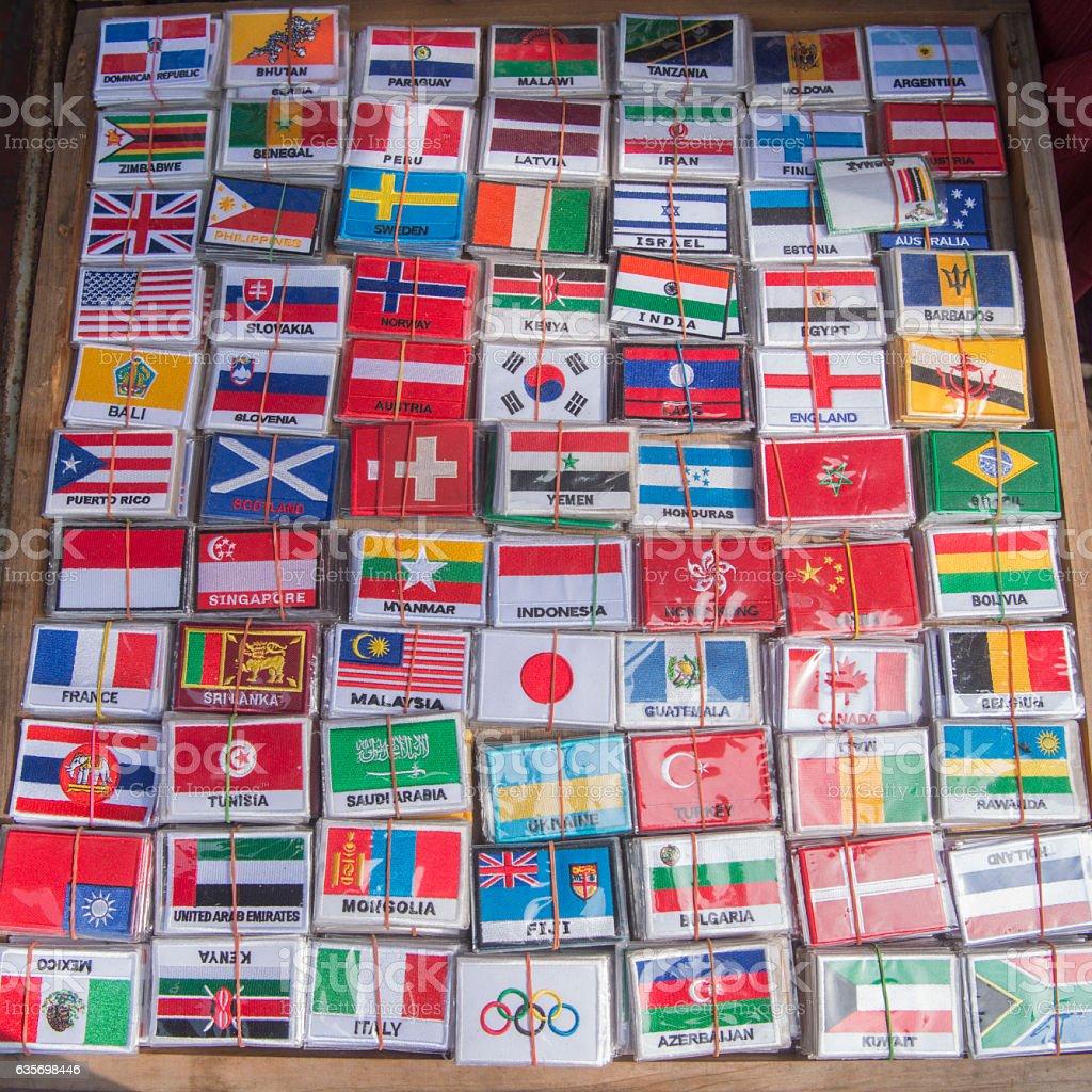THAILAND BANGKOK INTERNATIONAL COUNTRY FLAGS royalty-free stock photo