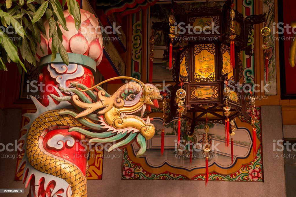 THAILAND BANGKOK CHINA TOWN TEMPLE royalty-free stock photo