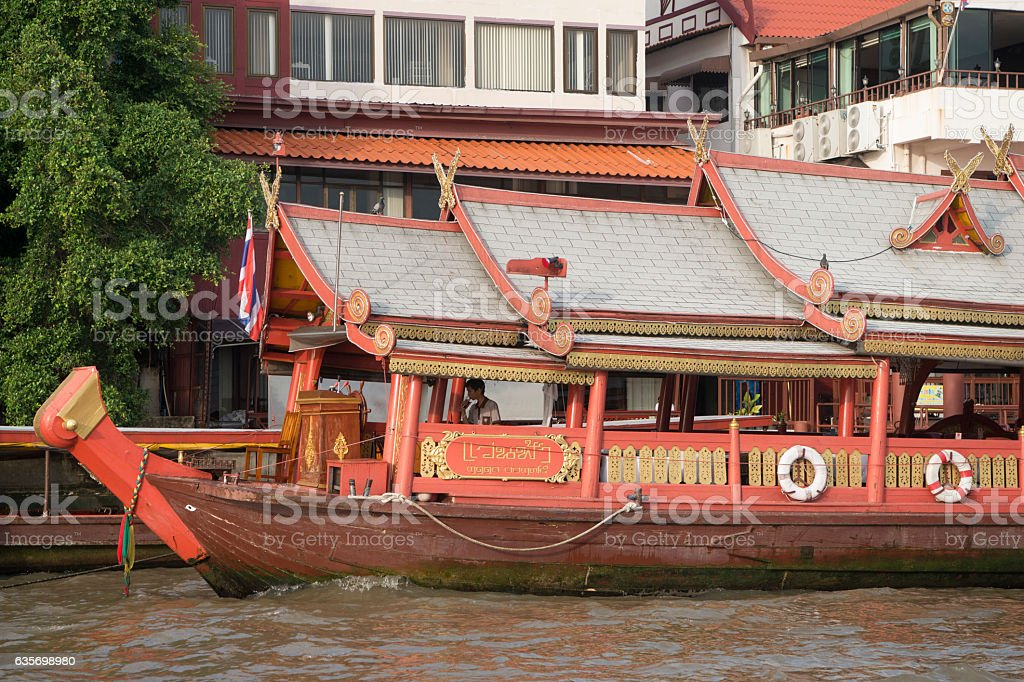 THAILAND BANGKOK CHAO PHRAYA RIVER BOAT royalty-free stock photo