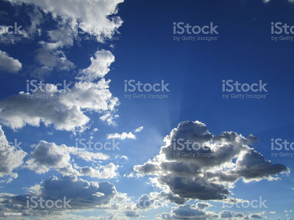 MOODY CLOUDS IN SKY royalty-free stock photo