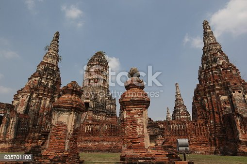 Asia Thailand Ayuthaya Wat Chai Wattanaram Stock Photo & More Pictures of Asia
