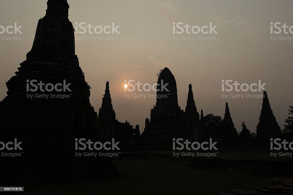 ASIA THAILAND AYUTHAYA WAT CHAI WATTANARAM royalty-free stock photo