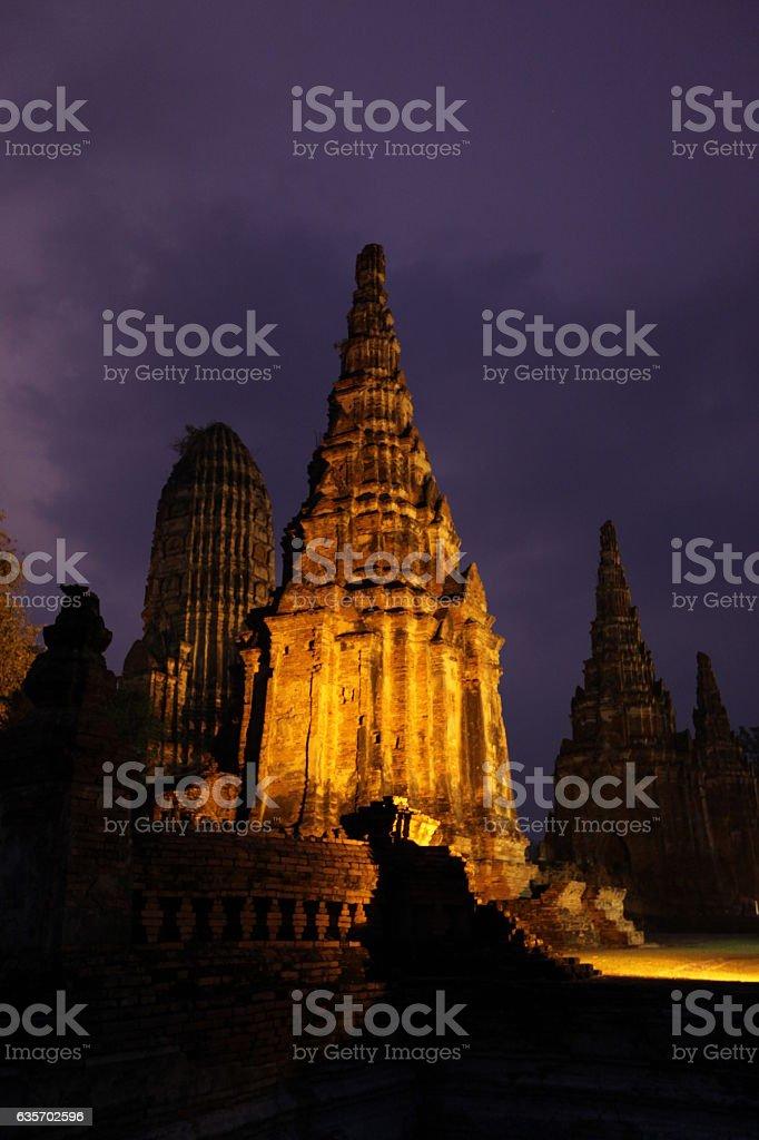 ASIA THAILAND AYUTHAYA WAT CHAI WATTANARAM royalty-free stock photo
