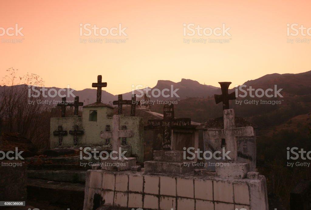 ASIA EAST TIMOR TIMOR LESTE MOUBISSE GRAVEYARD stock photo