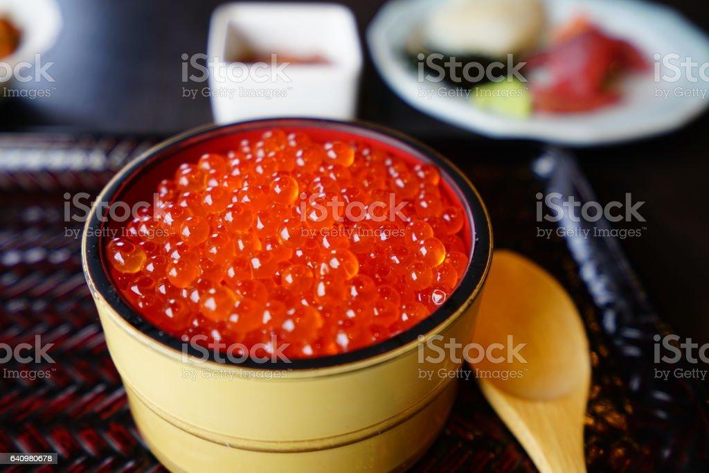 イクラ(Salmon roe) - Royalty-free Donburi Stock Photo