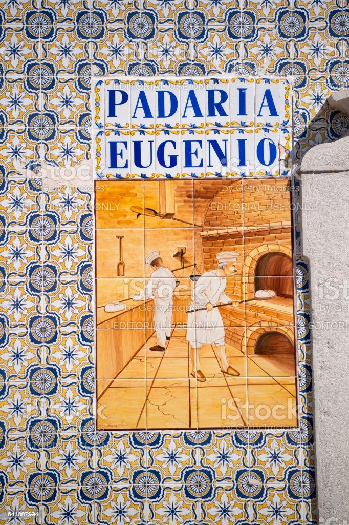 EUROPE PORTUGAL ALGARVE SANTA LUZIA TOWN stock photo